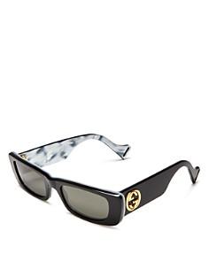 Gucci - Women's Slim Rectangular Sunglasses, 52mm