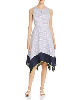 ec890bc28e4d Donna Karan - Sleeveless Dot-Print Dress ...