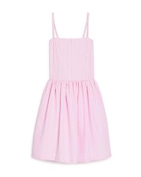 AQUA - Girls' Striped Seersucker Dress, Big Kid - 100% Exclusive