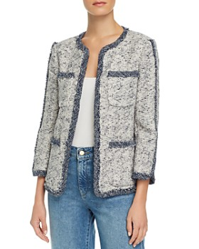 620ed0ab Rebecca Taylor - Open-Front Speckled Tweed Jacket ...