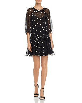 Rebecca Taylor - Dot Embroidered Mini Dress
