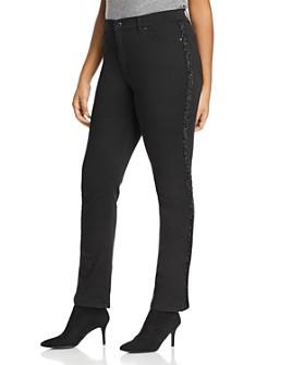 Marina Rinaldi - Ignoto High-Rise Straight-Leg Jeans in Black