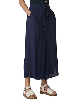 Whistles - Textured Side-Slit Culottes