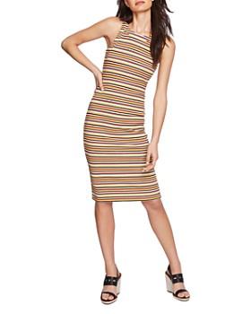 1.STATE - Sleeveless Striped Back-Cutout Dress