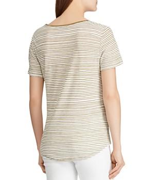 Ralph Lauren - Striped Twist-Front Tee