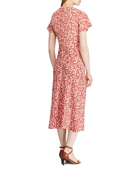 Ralph Lauren - Floral Tie-Front Midi Dress