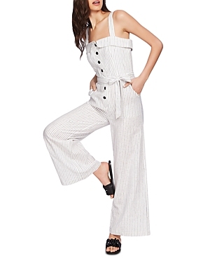 1.state Suits SLEEVELESS STRIPED JUMPSUIT