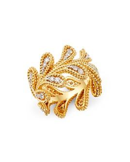 Roberto Coin - 18K Yellow & White Gold Byzantine Barocco Diamond Ring