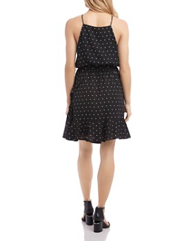 Karen Kane - Sleeveless Dot-Print Dress