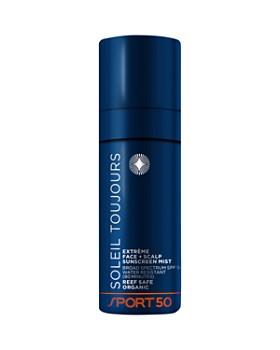 SOLEIL TOUJOURS - Organic Extrème Face + Scalp Sunscreen Mist SPF 50 Sport