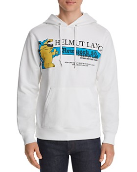Helmut Lang - Standard Embroidered Graphic Hooded Sweatshirt