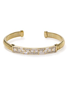 Nadri - Mercer Baguette & Pavé Flexible Bangle Bracelet