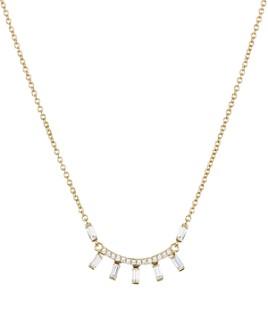 """Nadri - Mercer Small Baguette & Pavé Pendant Necklace, 16"""""""