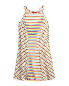 AQUA - Girls' Striped Shift Dress, Big Kid - 100% Exclusive
