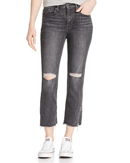 Levi's - 724 High-Rise Crop Straight Jeans in Dire Straits