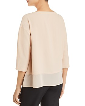 Eileen Fisher - Silk Boat-Neck Top