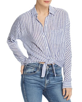 Rails - Rylan Tie-Front Striped Shirt