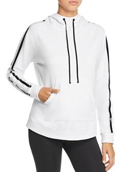 Blanc Noir - Sport Striped-Sleeve Hooded Sweatshirt
