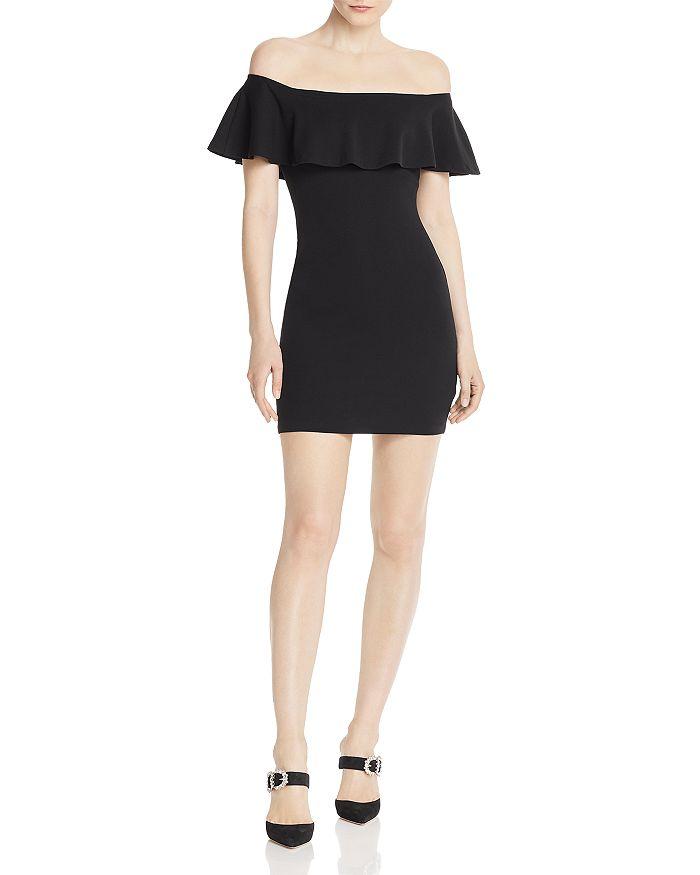 AQUA - Off-the-Shoulder Body-Con Dress - 100% Exclusive