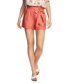 1.STATE - Cuffed Tie-Waist Shorts