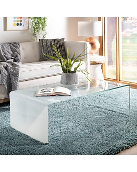 SAFAVIEH - Couture Crysta Ombré Glass Coffee Table