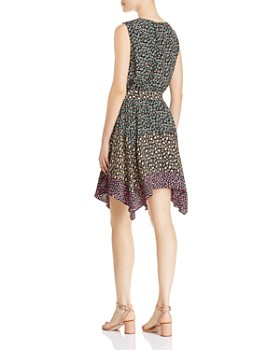 Rebecca Taylor - Louisa Color-Blocked Floral Dress