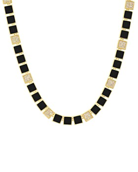 """Freida Rothman - Harmony Collar Necklace in 14K Gold-Plated Sterling Silver, 16"""""""
