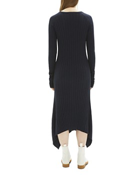 Helmut Lang - Fine Wool Ribbed Maxi Dress