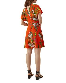 KAREN MILLEN - Floral Silk Wrap Dress