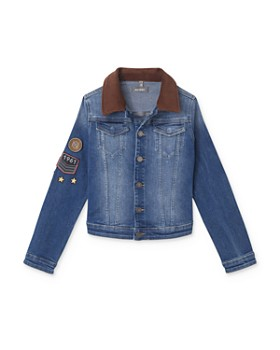 DL1961 - Boys' Manning Corduroy-Collar Denim Jacket - Big Kid
