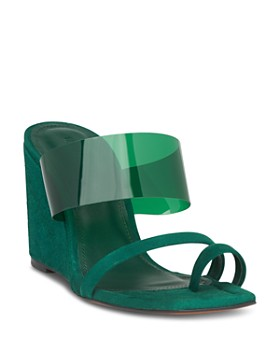 Whistles - Women's Limited Thayer Perspex Wedge Heel Sandals