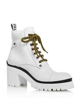 Miu Miu - Women's Never Mind Block Heel Hiking Boots