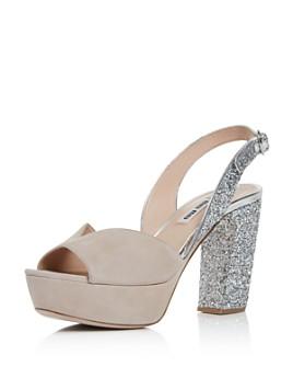 Miu Miu - Women's Glitter Platform Sandals