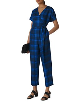 Whistles - Plaid Linen Jumpsuit