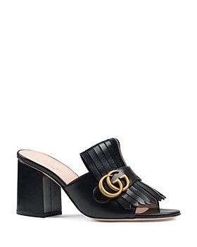 Gucci - Women's Marmont Mid Heel Slide Sandals