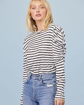 LNA - Ella Puff-Sleeve Striped Tee