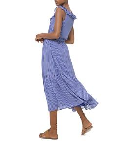 MICHAEL Michael Kors - Striped Ruffled Georgette Midi Dress