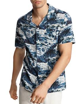 John Varvatos Star USA - Skip Short-Sleeve Island-Print Slim Fit Shirt