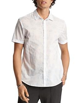 John Varvatos Collection - Short-Sleeve Floral-Print Classic Fit Shirt
