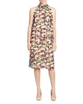 T Tahari - Printed Chiffon Dress