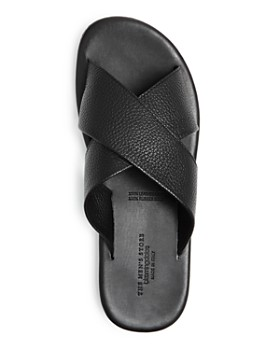 The Men's Store at Bloomingdale's - Men's Leather Crisscross Slide Sandals - 100% Exclusive