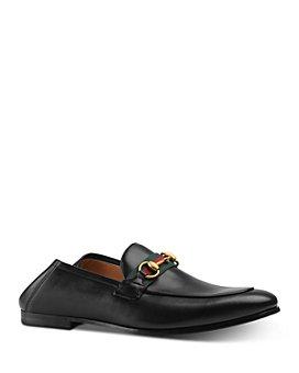 Gucci - Men's Leather Web Horsebit Loafers