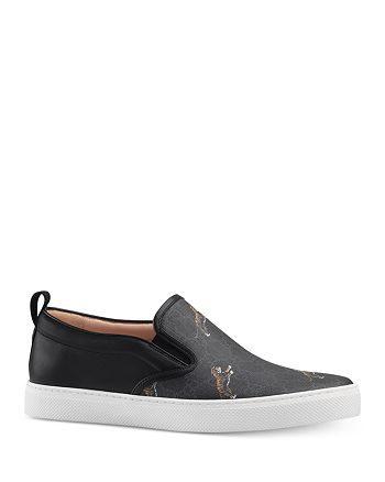 Gucci - GG Supreme Tiger Slip-On Sneakers
