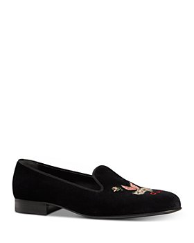 Gucci - Men's Embroidered Velvet Loafers