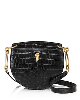Bally - Cecyle Small Croc-Embossed Leather Crossbody