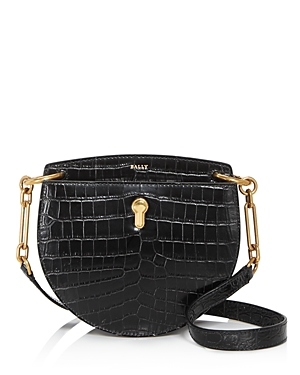 Bally Cecyle Small Croc-Embossed Leather Crossbody-Handbags