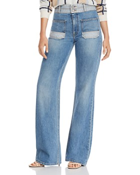 Joie - Gabriel Patch-Pocket Wide-Leg Jeans in Thames