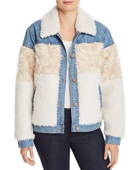 Rebecca Taylor - Faux-Fur & Denim Jacket