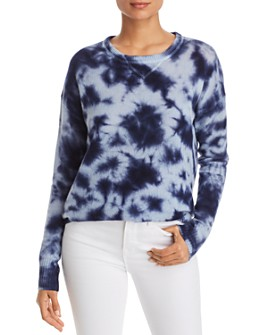 C by Bloomingdale's - Tie-Dye Drop-Shoulder Cashmere Sweater - 100% Exclusive