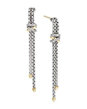 d66e71643 David Yurman - Sterling Silver & 18K Yellow Gold Helena Diamond Chain Drop  Earrings ...